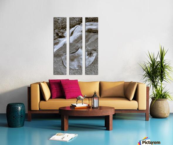 Waterfall ap 2212 B&W Split Canvas print