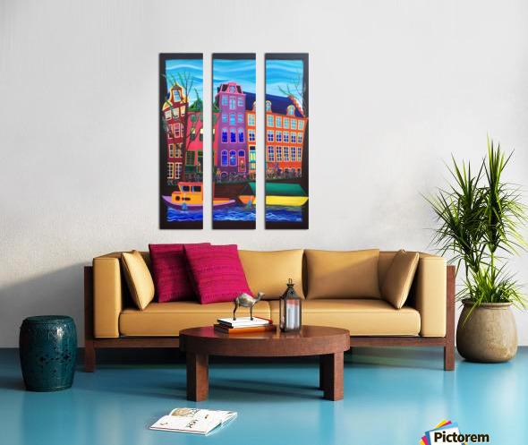Amsterdam in November Split Canvas print