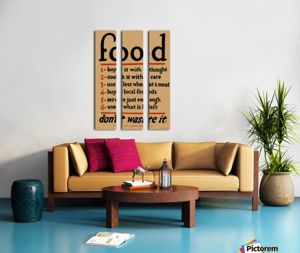 Food Poster Split Canvas print
