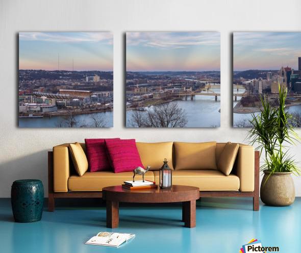 Pittsburgh apmi 1513 Split Canvas print