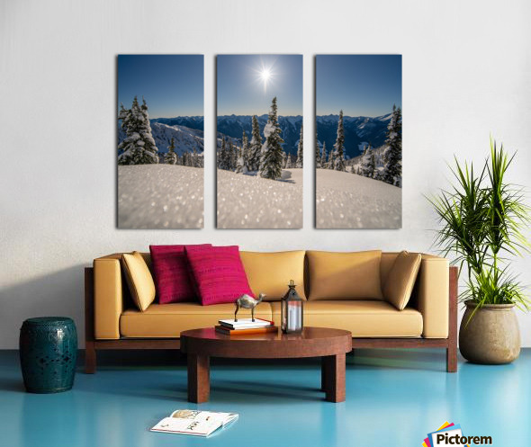 Mid winter blues Split Canvas print