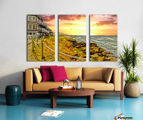 Depoe Bay On the Oregon Coast - Art Style Split Canvas print