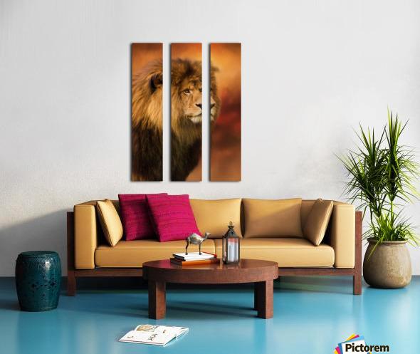 Lion Legacy - Lion Art by Jordan Blackstone Split Canvas print
