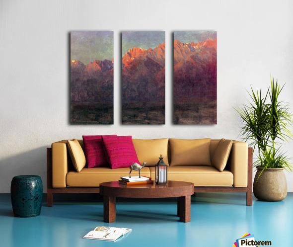 Sunrise in the Sierras by Bierstadt Split Canvas print