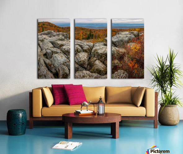 Bear Rocks Overlook apmi 1793 Split Canvas print