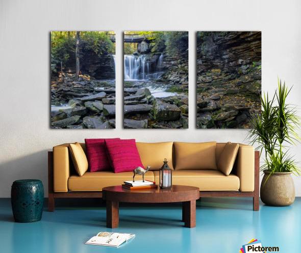 Elakala Falls and Bridge apmi 1775 Split Canvas print