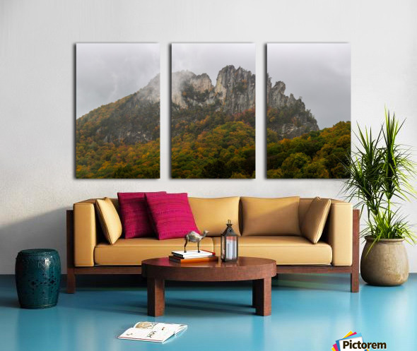 Seneca Rocks apmi 1881 Split Canvas print