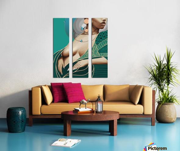 The Greens Split Canvas print