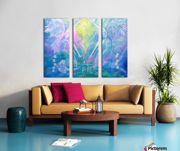 Gemini Angels Split Canvas print