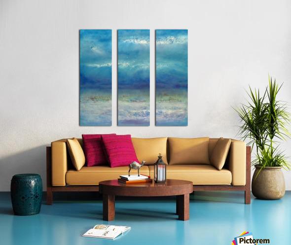 Infinity Beyond The Blue Split Canvas print