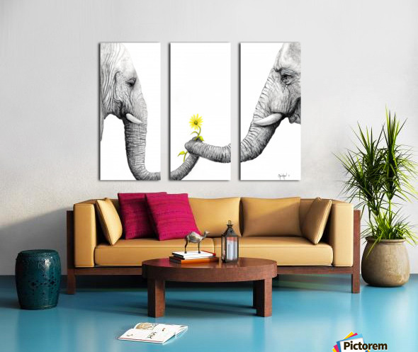 Up Close You Are More Wrinkly Than I Remember  Split Canvas print