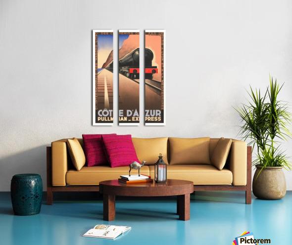 Cote D'Azur Pullman Express Split Canvas print
