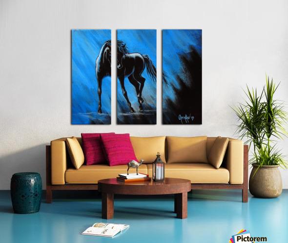 Midnight Blue  Split Canvas print