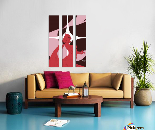 Scarlet Witch Flats Split Canvas print
