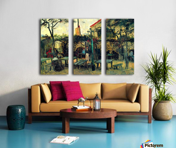 Terrace of a Cafe by Van Gogh Split Canvas print