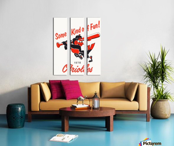 1978 Baltimore Orioles Some Kind of Fun Poster Split Canvas print