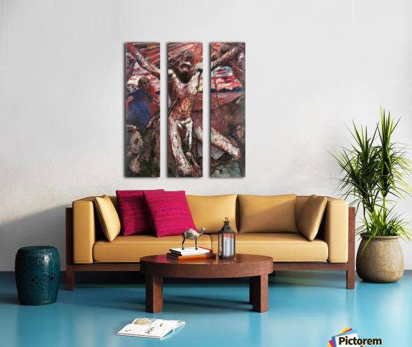 Red Christ by Lovis Corinth Split Canvas print