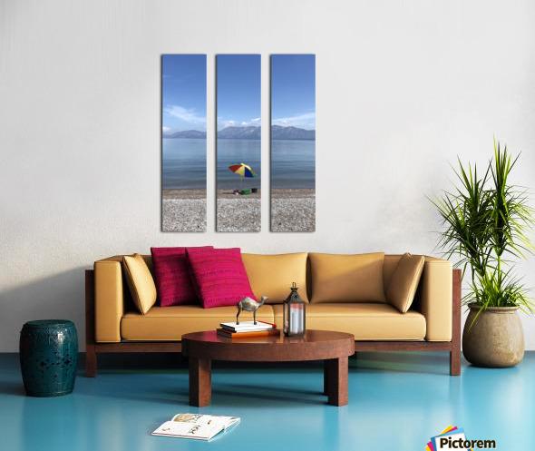 Greece the view of Evia Split Canvas print