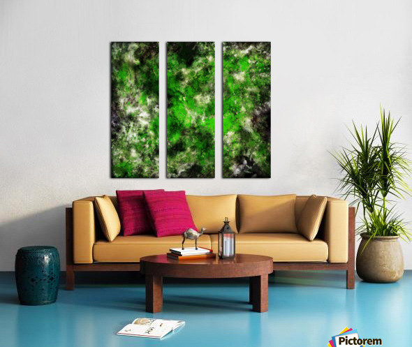 Green noise Split Canvas print