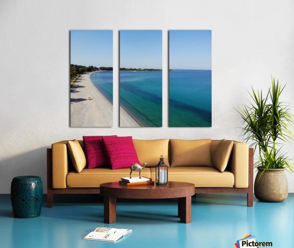 Greece coast near Lefkada Split Canvas print