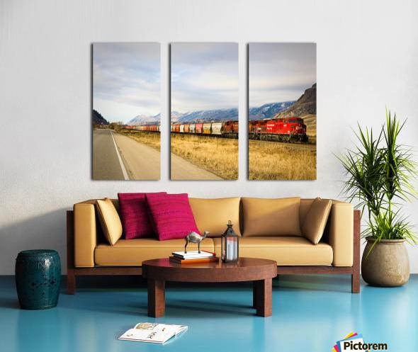 Great Canadian Railroad Split Canvas print