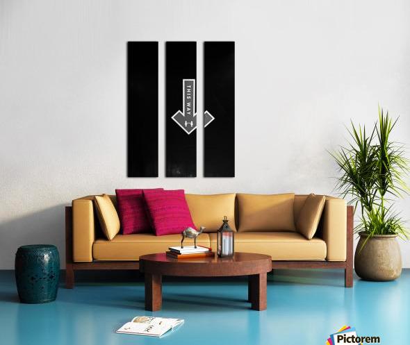 This Way Split Canvas print