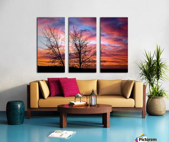Painted Sky Split Canvas print