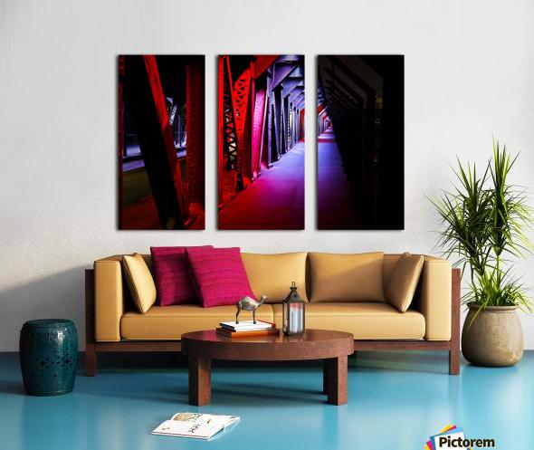 Tunnel of Red Rain Split Canvas print