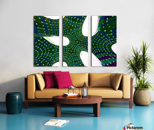 Vaulted Rainbow Split Canvas print