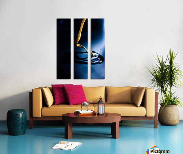 Gentle Blue Touch Split Canvas print