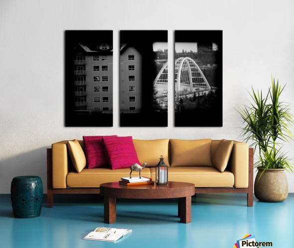 Building and Bridge Split Canvas print