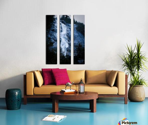 Blue Falls Split Canvas print