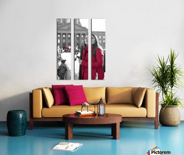 Girl with Flower Split Canvas print