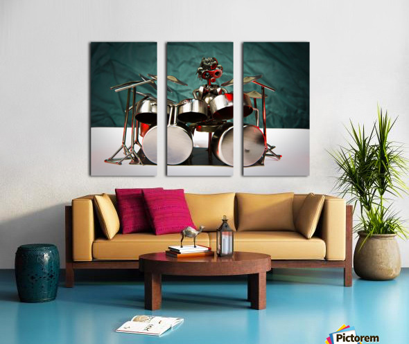 Nuthead on the Drums Split Canvas print