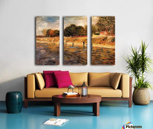 The Banks of the Seine by Van Gogh Split Canvas print