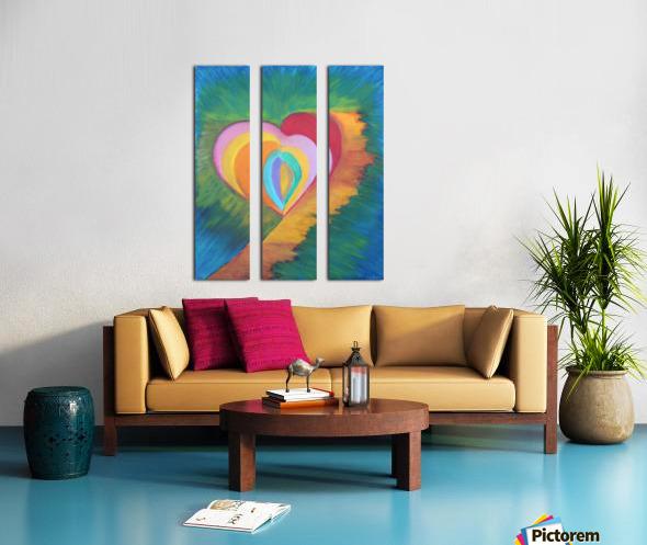 Heart Split Canvas print