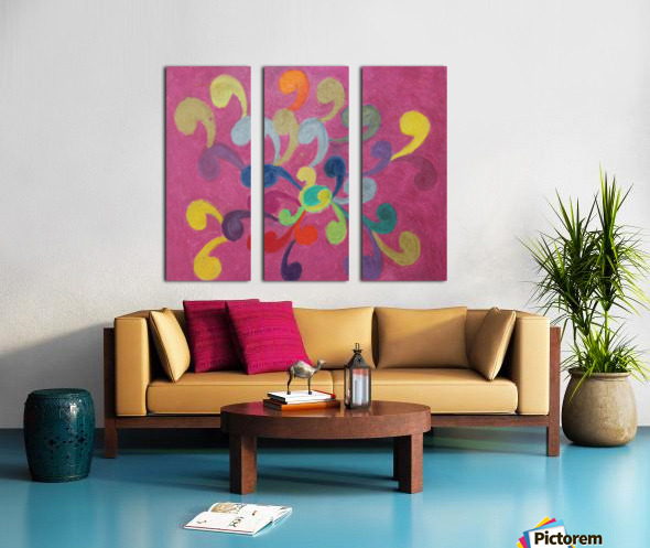 Pink Abstract Split Canvas print