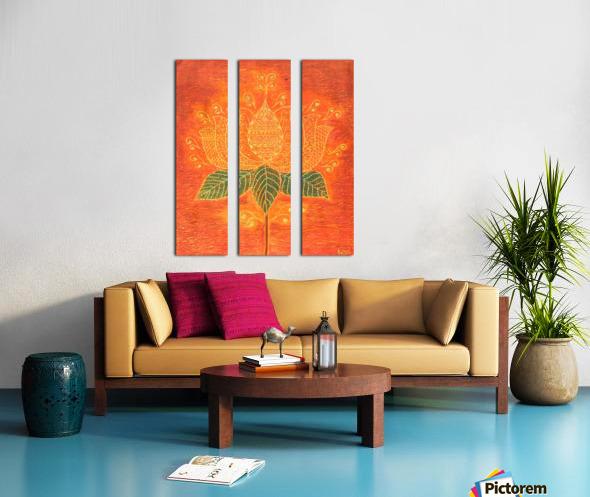 Lotus Split Canvas print