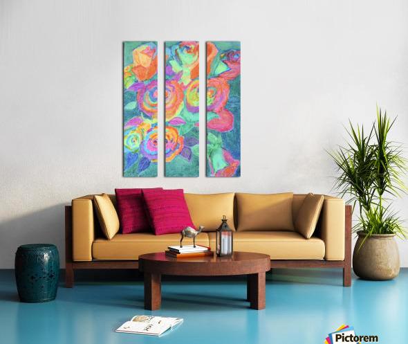 Colorful flowers Split Canvas print