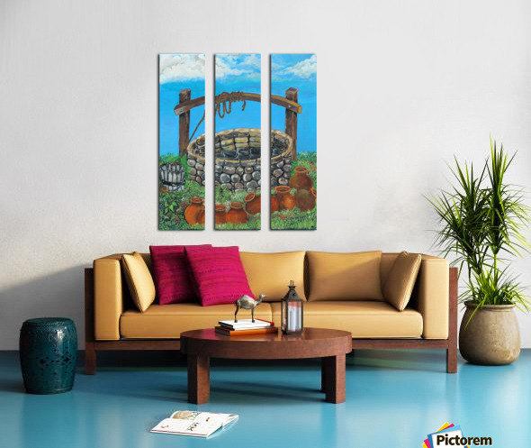 A lonely well Split Canvas print