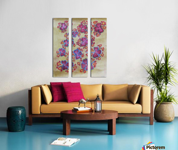 Flowers Split Canvas print