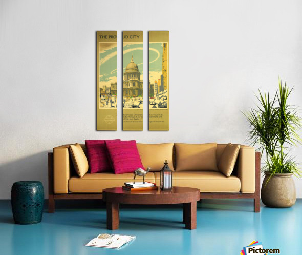 The Proud City Split Canvas print