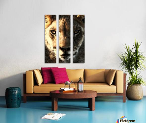 Lions Head Split Canvas print