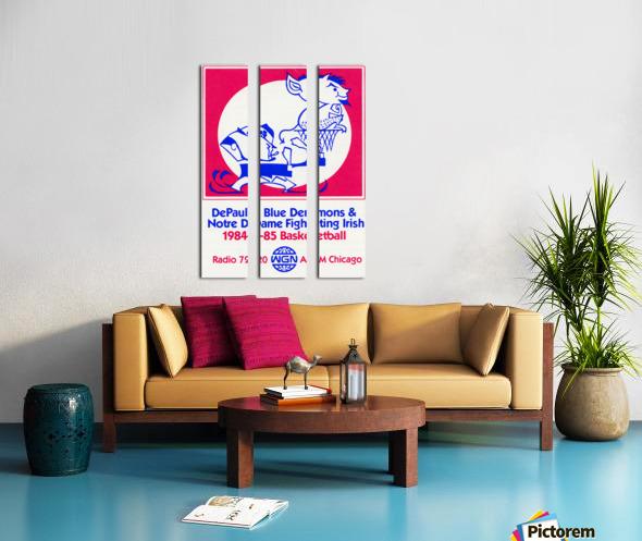 1984 DePaul Notre Dame Basketball WGN Poster Split Canvas print