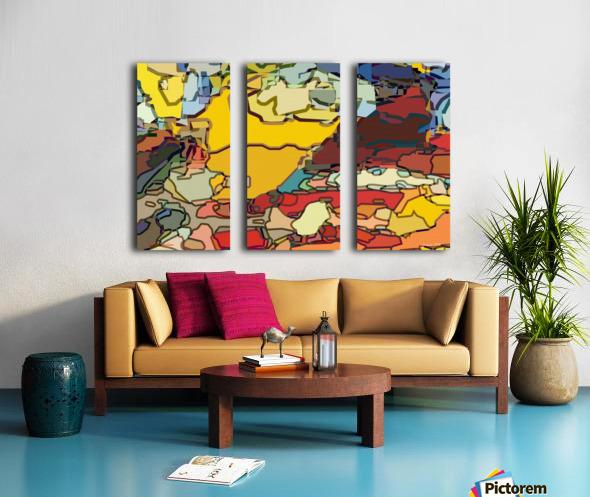 animal magnetism Split Canvas print