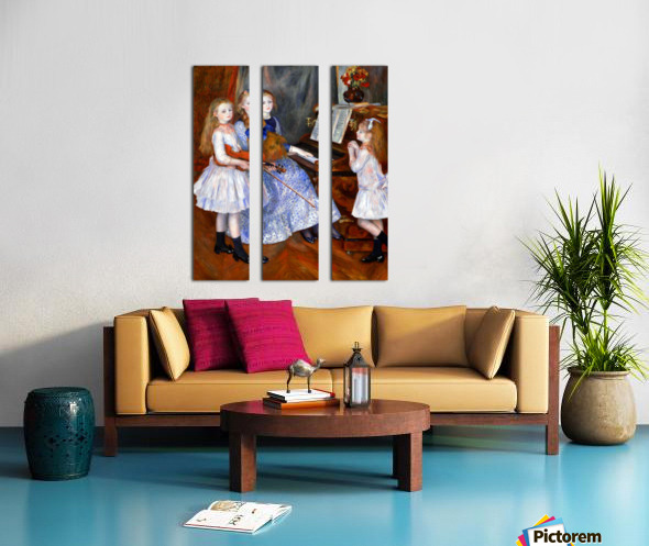 The daughters of Catulle Mendes Split Canvas print