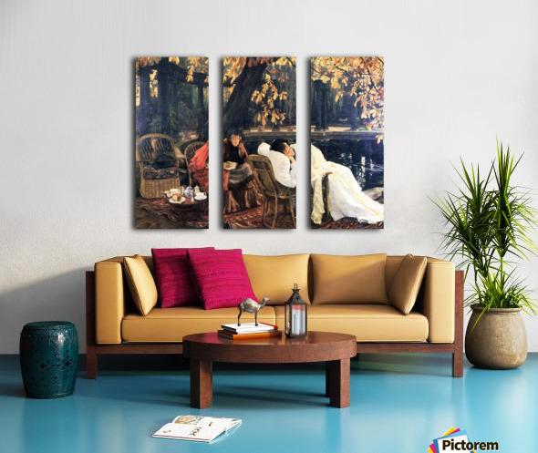The end by Tissot Split Canvas print