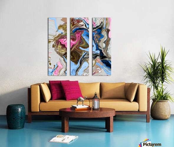 bluepour Split Canvas print
