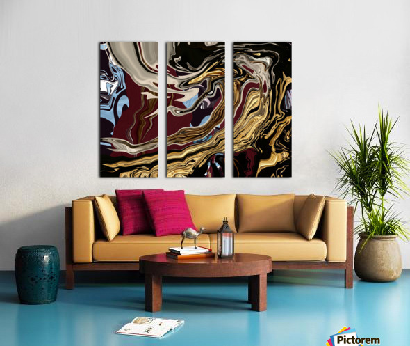 chrome Split Canvas print