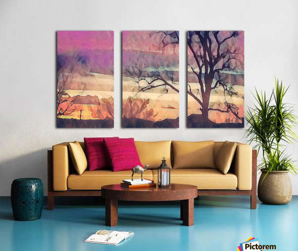winter sky lavender Split Canvas print